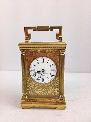 CHARLES FRODSHAM & Co. CARRIAGE CLOCK ANTIQUE BRASS