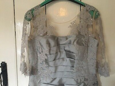 John Charles Mother Of The Bride 25923A Silver/lace