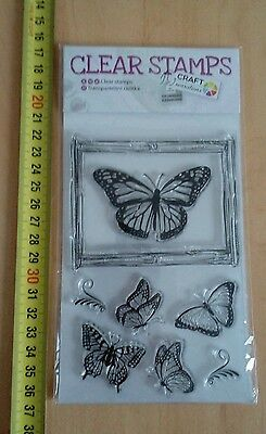 Clear stamp PAPILLONS  Planche 7 Tampons Neuf  !