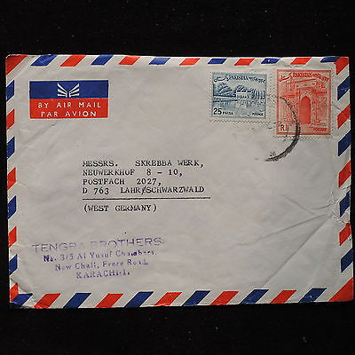 ZS-AC007 PAKISTAN - Airmail, From Karachi To Lahr/Schwarzwald Germany Cover