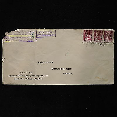 ZS-AC008 INDONESIA - Cover, Airmail From Bandung To Germany