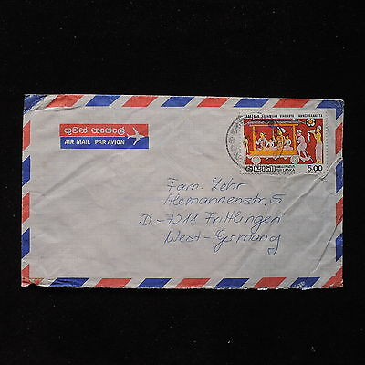 ZS-AC016 SRI LANKA - Folklore, Airmail To Frittlingen Germany Cover