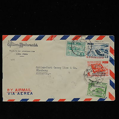 ZS-AC149 PERU - Airmail, From Lima To Nurnberg Germany Cover