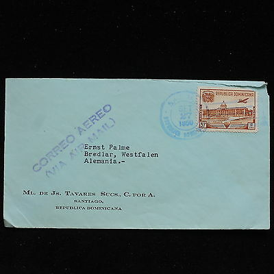ZS-AC154 DOMINICAN REP. - Airmail, 1950 From Santiago To Bredlar Germany Cover