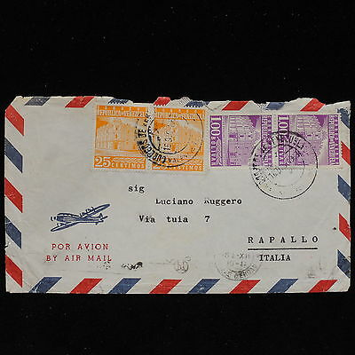 ZS-AC157 VENEZUELA - Airmail, 1963 To Rapallo Italy Cover