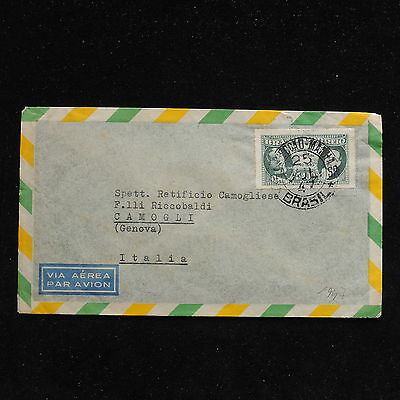 ZS-AC233 BRAZIL - Airmail, 1947 To Camogli Italy Cover