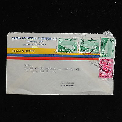 ZS-AC284 ECUADOR - Airmail, From Guayaquil To Germany Cover