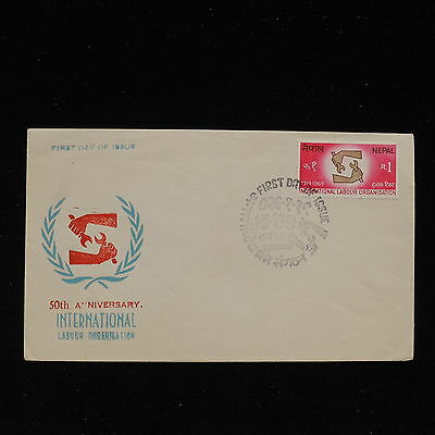 ZS-AC324 NEPAL - Fdc, 1969 50Th Anniv. Intrnational Labour Organisation Cover