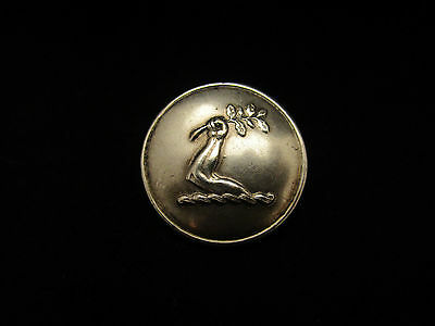 Antique Livery Button man's arm holding branch olive family crest peerage UK