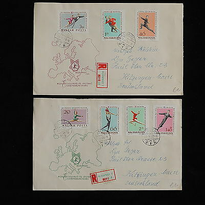 ZS-AC377 HUNGARY - Olympic Games, 1953 From Budapest To Germany, Fdc,Lot Covers