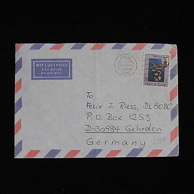 ZS-AC414 QATAR - Ships, 1995 From Doha To Gehrden Germany Cover