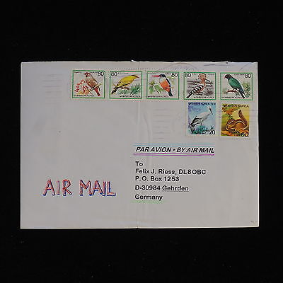 ZS-AC420 S. KOREA - Birds, Airmail To Gehrden Germany Cover