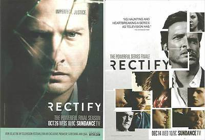 2, 2016 PRINT ADs for Sundance tv Rectify Aden Young ADVERTISING PAGES