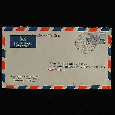 ZS-AC437 INDIA IND - Airmail, From Calcutta To Hamburg Germany Cover