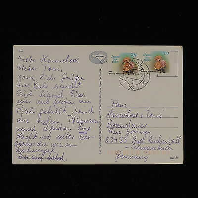 ZS-AC467 INDONESIA - Flowers, 1997 To Bad Reichenhall Germany Cover