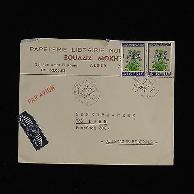 ZS-AC514 ALGERIA IND - Flowers, 1972 From Algeri To Lahr Germany, Airmail Cover
