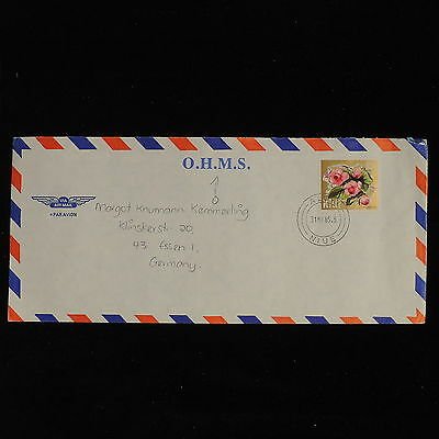 ZS-AC554 NIUE IND - Airmail, 1985 To Essen Germany, O.H.M.S. Cover