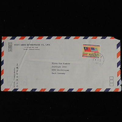 ZS-AC563 TAIWAN - Airmail, From Taipei To Nordlingen Germany Cover
