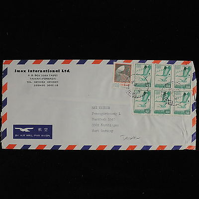 ZS-AC569 TAIWAN - Airmail, From Taipei To Nordlingen Germany Cover