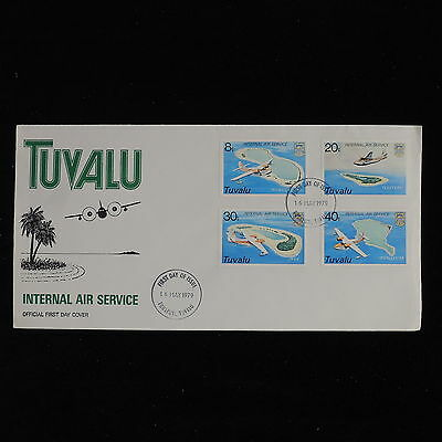 ZS-AC576 TUVALU - Aviation, 1979 Fdc, Internal Air Service Cover