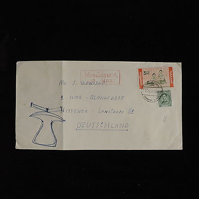 ZS-AC597 THAILAND - Airmail, From Bangkok To Hissener Germany Cover