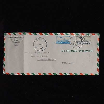 ZS-AC598 LEBANON IND - Airmail, 1953 From Beirut To Hamburg Germany Cover