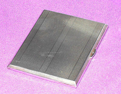 Art Deco 1930 Mappin & Webb Solid Sterling Silver Card Cigarette Case Antique
