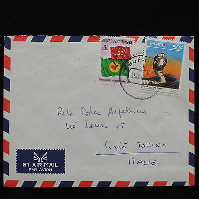 ZS-AC651 ZAIRE - Reptiles, Airmail To Cirie Italy Cover
