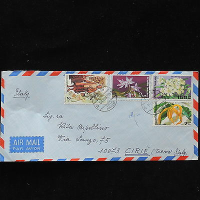 ZS-AC683 THAILAND - Flowers, From Hatyai To Cirie Italy Cover