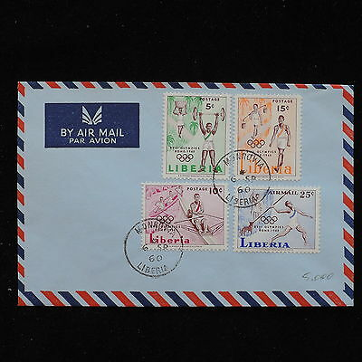 ZS-AC692 LIBERIA - Olympic Games, 1960 Airmail From Monrovia Cover