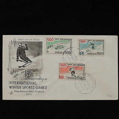 ZS-AC694 TOGO IND - Olympic Games, 1960 Fdc,Internat. Winter Sports Games Cover