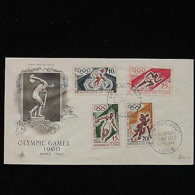 ZS-AC696 TOGO IND - Olympic Games, 1960 Fdc Rome Olympics Cover