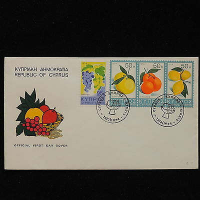 ZS-AC697 CYPRUS IND - Fruits, 1974 Fdc Cover