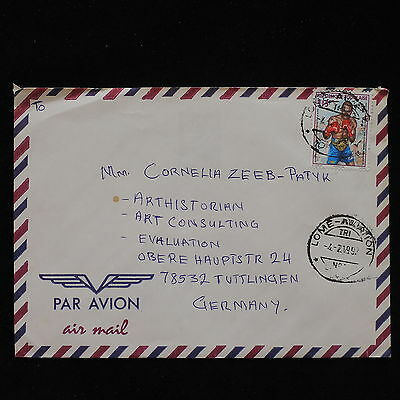 ZS-AC699 TOGO IND - Boxe, 1997 From Lome To Tuttlingen Germany, Airmail Cover