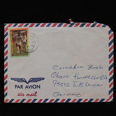 ZS-AC703 GHANA - Football, 1987 Airmail To Tuttlinger Germany Cover