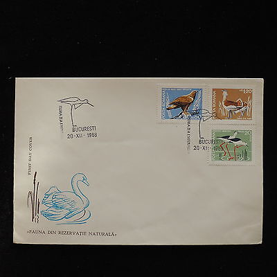 ZS-AC750 ROMANIA - Birds, 1968 Fdc, Nature Reserve Cover