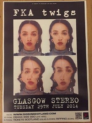 FKA Twigs - Rare Concert / Gig poster , Glasgow - July 2014