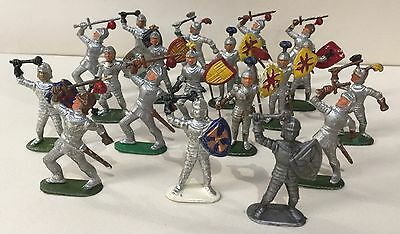 Knights Vintage Plastic Figures Britains Timpo Crescent ? Unknown Make
