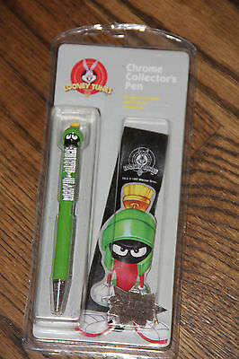 Looney Tunes Marvin the Martian Chrome Collector's Pen & Gift Pouch - NEW