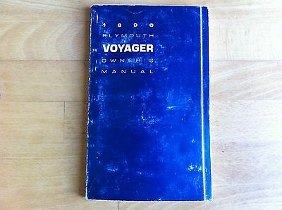 1990 PLYMOUTH VOYAGER OWNER'S MANUAL - 2.5l NORMAL & TURBO, 3.0L & 3.3L ENGINES