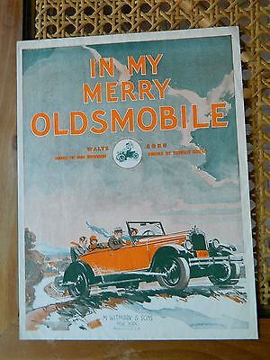 1915 Excellent: In My Merry Oldsmobile: 9 1/2  X 12  1/2
