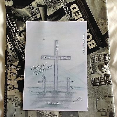 Print Of Paul Massey Tribute Art Rare A4 Print By Charlie Bronson Hand Signed
