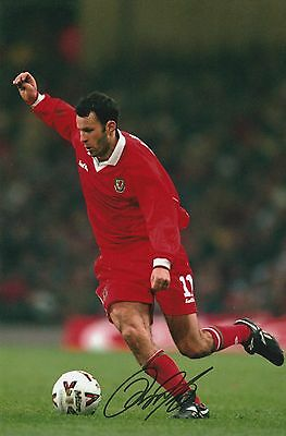 Ryan Giggs Wales Original Hand Signed Photo 12x8 With COA