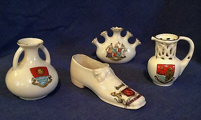 Small job lot of crested china. Aberdeen. Scarborough. Weston. Birmingham.