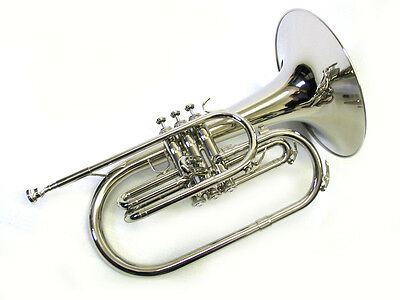 Marching Band Mellophone Nickel F w/Case & Mouthpiece, E.F. Durand MM-950 N