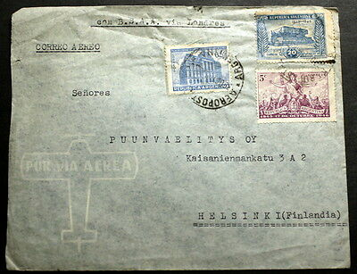 Argentina cover to Finland   F-025