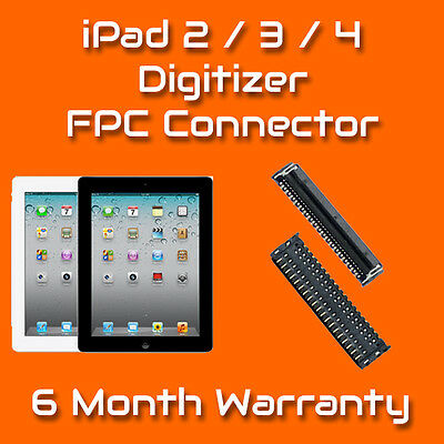 Apple iPad 2 3 4 Digitizer Touch FPC Connector Repair Replacement Service