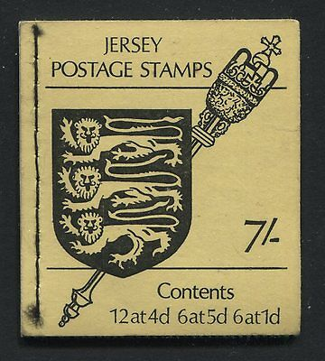 Jersey: 1969 7/- Stamp Booklet - inverted panes SG SB2 - AC231
