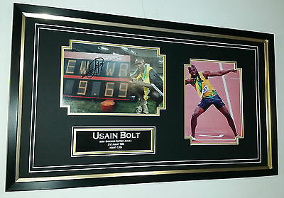 ** NEW Usain Bolt Signed PHOTO PICTURE AUTOGRAPH Display **