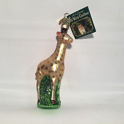 Old World Christmas - Baby Giraffe - Glass Ornament - Includes Tags and Box